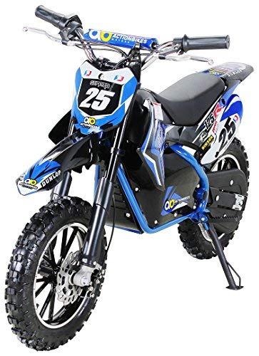 Kinder Mini Elektro Crossbike'Gepard' 500 Watt verstärkte Gabel 36 Volt Enduro Motorcrossbike Pocketbike (Blau)