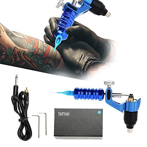 Professionelle Alloy Tattoo Motor Gun Dreht Tätowiermaschine mit Griff Set mit Box + Kabel + 2 Inbusschlüssel, Tattoo Liner und Shader-Maschine für Anfänger oder Künstler