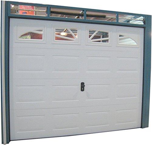 Garagentor, Tor, Sektionaltor 3040 x 2180 mm RA. , weiß box mit 4 x Glas