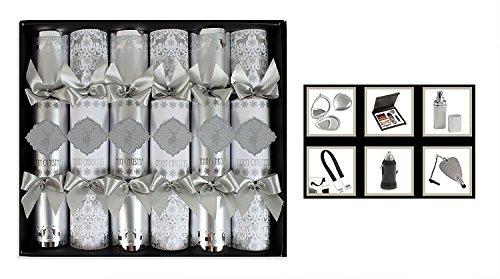 Weihnachts-Knallbonbons, Handgemacht, Box mit 6verschiedenen Designs, Glitzer-Luxus-Geschenke Reindeer Design