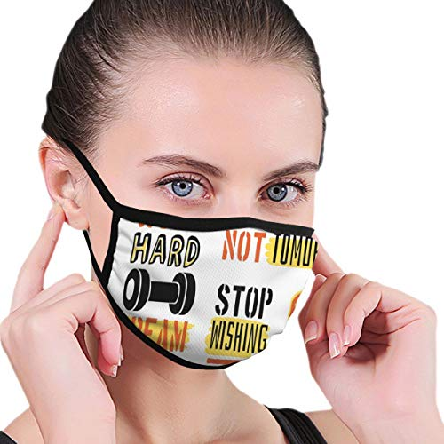 Comfortable Windproof mask,Sports Affirmation Positive Quotes Motivational Typography Design Sneakers Adults