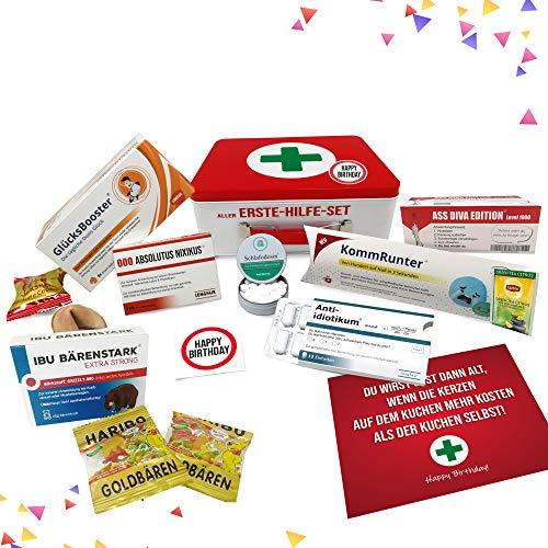 Geburtstagsgeschenk - Aller Erste Hilfe Set Geschenk-Box, witziger Sanikasten | Das Original | Scherzartikel zum Geburtstag (Deutsch)