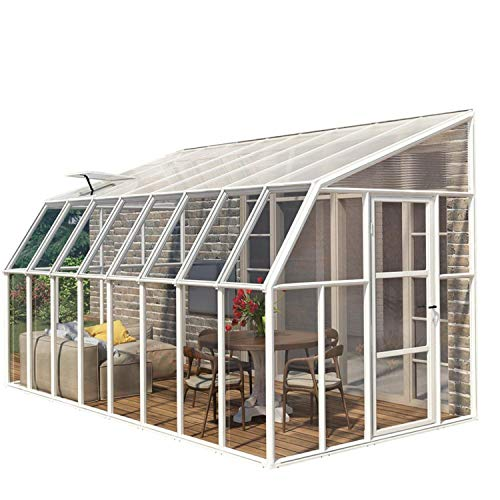 RION Kunststoff Anlehngewächshaus, Tomatenhaus, Wintergarten Sun Room 410' // 632 x 258 x 266 cm // inkl. Dachfenster