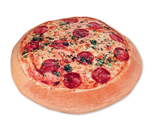 Close Up Pizzakissen inkl. Pizzaschachtel/Ø 40 cm/Plüsch-Kopfkissen/Kuschelkissen