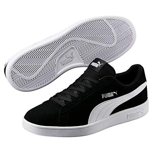 Puma Puma Smash v2, Unisex-Erwachsene Sneakers, Schwarz (Puma Black-Puma White-Puma Silver), 46 EU
