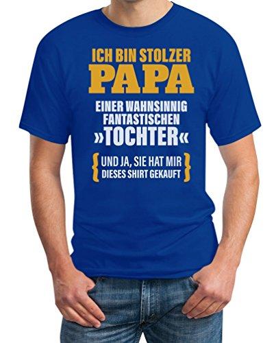 Geschenk für Vater - Ich Bin Stolzer Papa Einer Fantastischen Tochter T-Shirt XXX-Large Blau