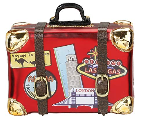 Inge-Glas Christbaumschmuck Koffer Weltreise