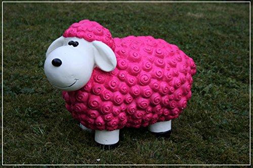 Dekofigur Schaf Tina in brombeer bunte Schafe Tier Figuren für Haus und Garten