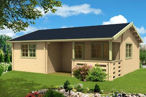 Gartenhaus FALUN C 70 Blockhaus 780 x 595 cm Holzhaus 70 mm Ferienhaus Holz NEU