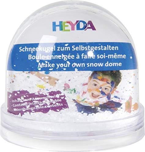 Heyda 204888400 Schneekugel zum Selbstgestalten aus Acryl