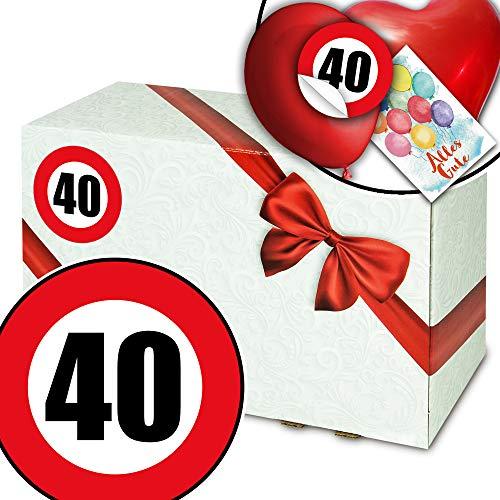 Geschenkeideen 40. Geburtstag - Geschenkbox Karton - 40 Jahre Geburtstag