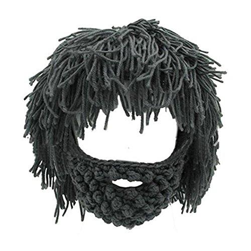 NNIUK Winter Lustige Unisex Bart Hüte Warm Fancy Bart Maske für Halloween Weihnachten Cosplay Party
