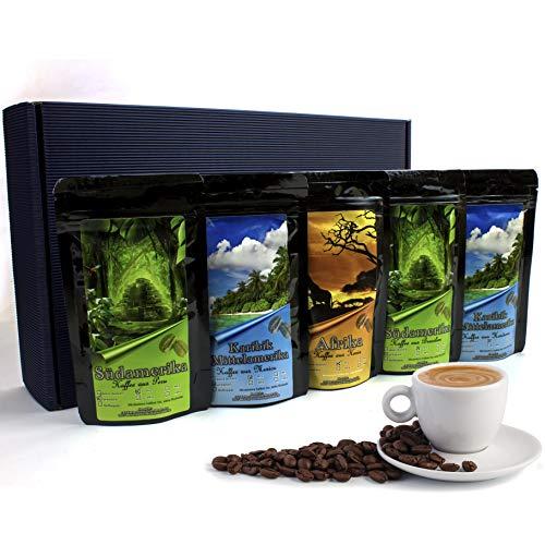 Geschenk Set - Länder Kaffee aus aller Welt - Gemahlener Kaffee im Geschenkkarton , das perfekte Geschenk