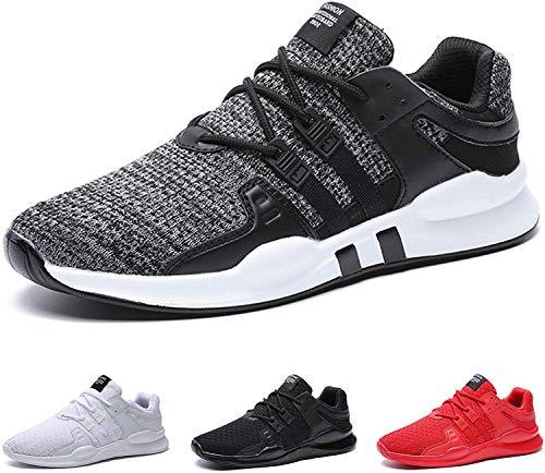 BAOLESME Sportschuhe Herren Atmungsaktiv Gym Laufschuhe Leichtgewicht Turnschuhe Freizeit Outdoor Sneaker,02-grau,EU 43