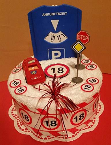 * Handtuchtorte * 18.Geburtstag * Führerschein * Auto *
