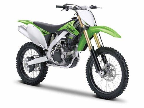 Maisto Kawasaki KX 450F: Originalgetreues Motorradmodell 1:12, mit beweglichem Ständer, Hinterrad-Federung und frei rollenden Rädern, grün (531175)