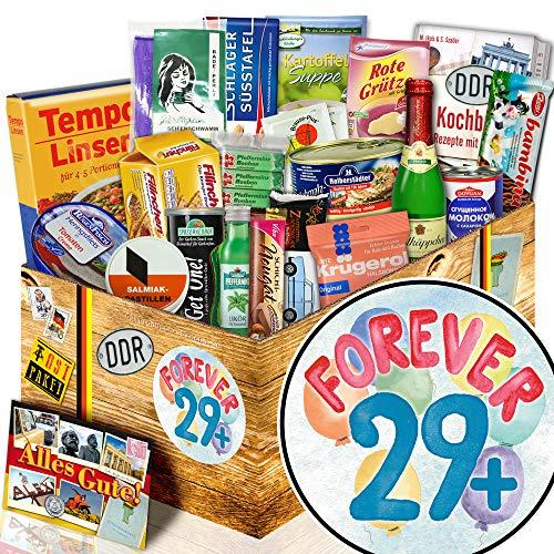Forever 29 + - Geschenk 30. Geburtstag Frau - Geschenk Spezialitätenbox