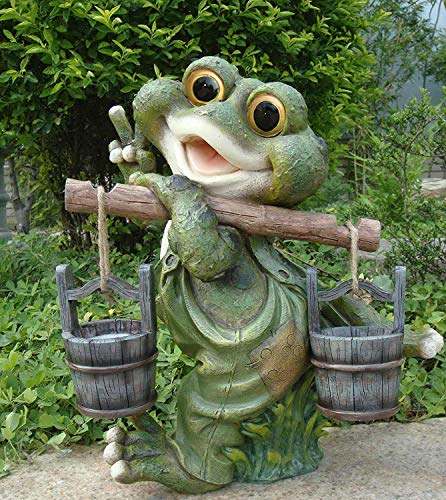 Frosch XXL 40 cm Hoch Deko Garten Gartenzwerg Figuren Dekoration 11169-3