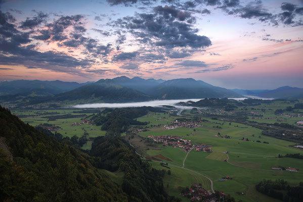 Morgendliche Nebelstimmung über Immenstadt. Landschaftsbild Bild Leinwand Bilderrahmen günstig kaufen