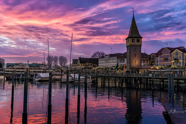 Lindauer Hafen Landschaftsbild Bild Leinwand Bilderrahmen günstig kaufen