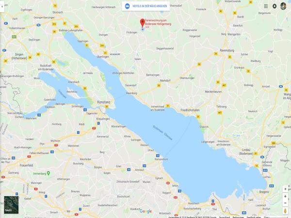 Standort Ferienwohnung Bodensee