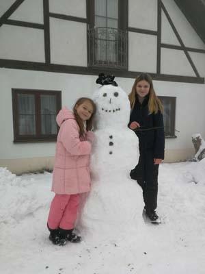 Ferienwohnung am Bodensee Heiligenberg Schneemann