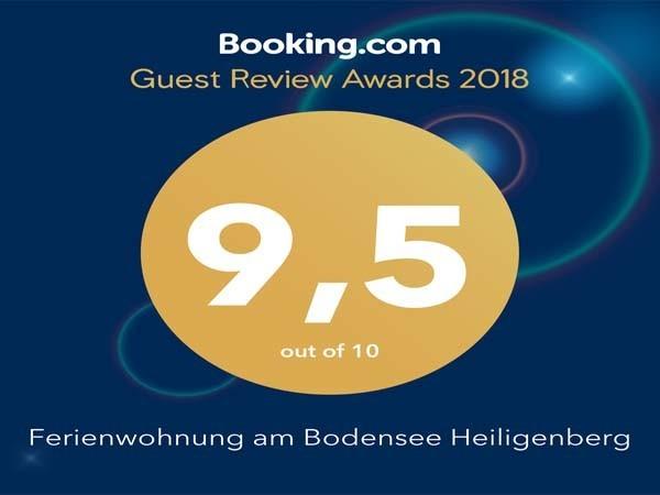 Ferienwohnung am Bodensee Heiligenberg Guest Review Award 2018