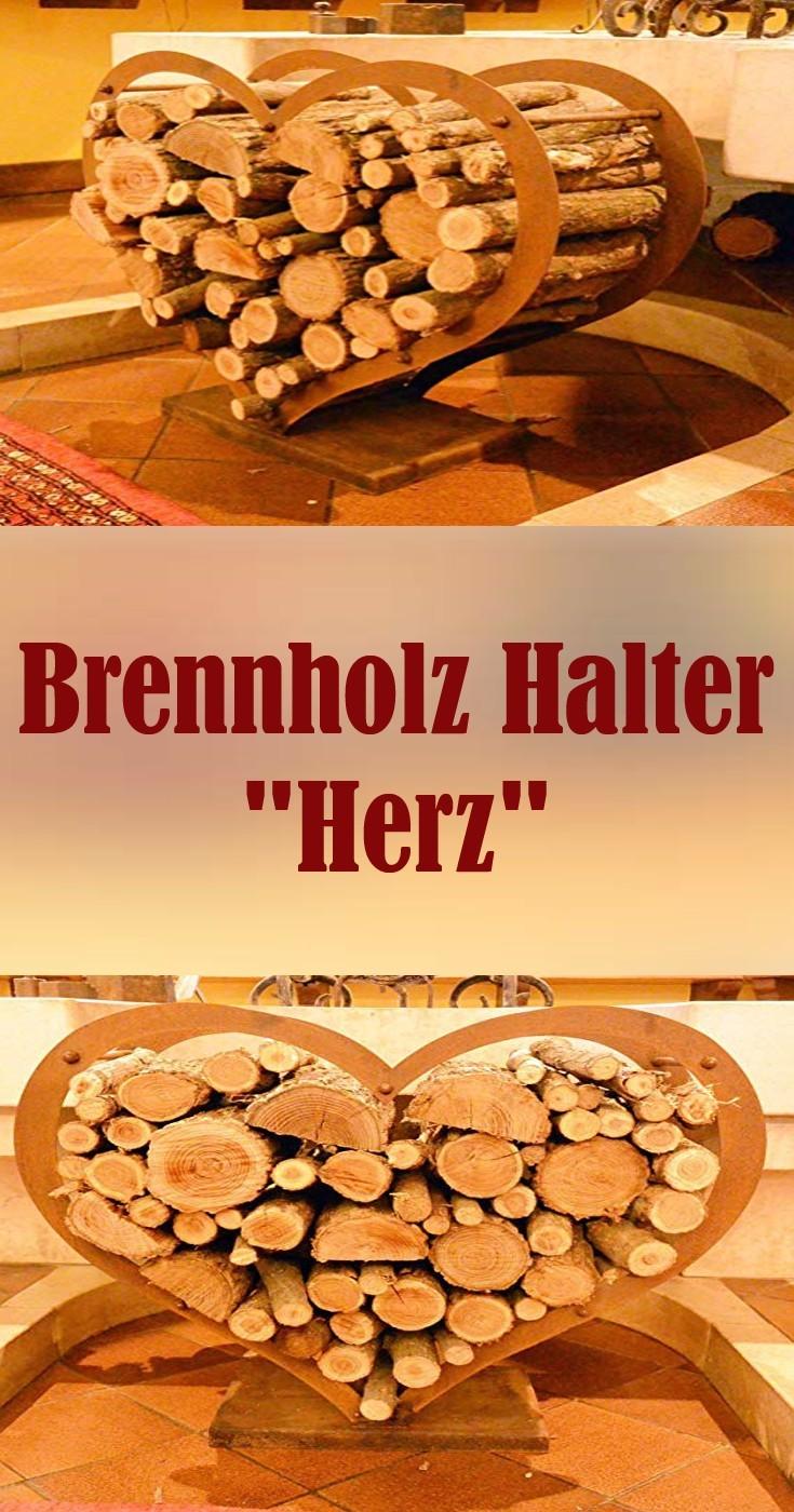 ❤ Brennholz ❤ Halter ❤Herz ❤ Geschenkidee Wohnidee Wohngestaltung