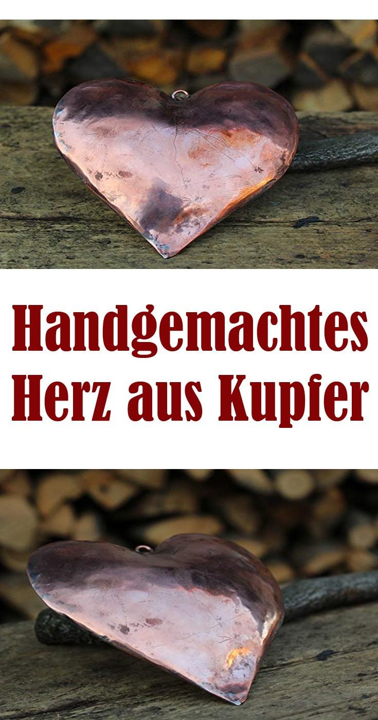 Handgemachtes ❤ Herz aus Kupfer als Liebes Geschenk Idee zum Muttertag