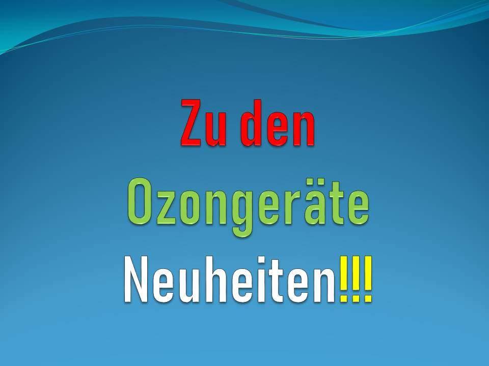 Ozongenerator Neuheiten