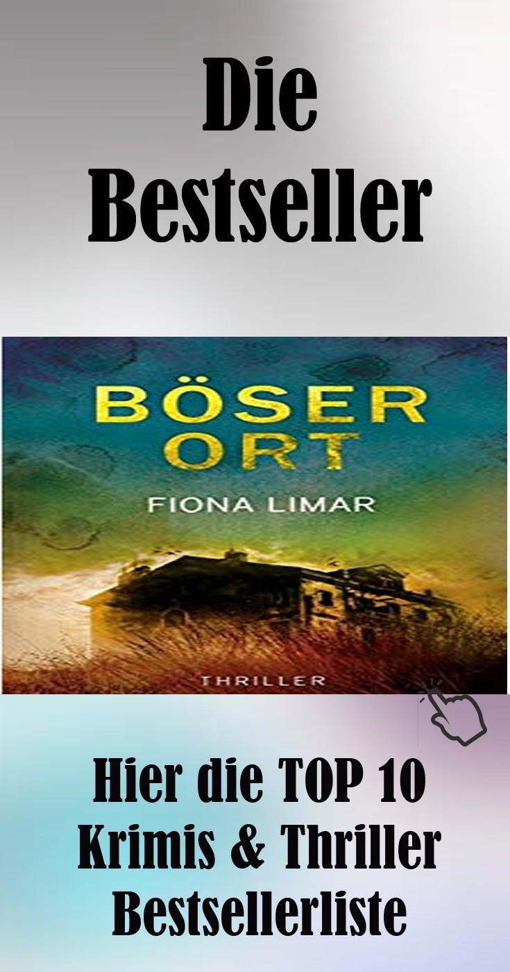Hier die TOP 10 Krimis & Thriller Bestsellerliste für Bücher Geschenkidee Weihnachtsgeschenk Geburtstagsgeschenk Idee