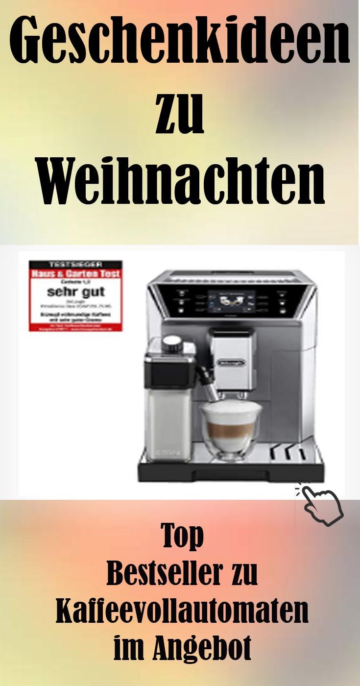 Geschenk zu Weihnachten Kaffeevollautomaten im Angebot.