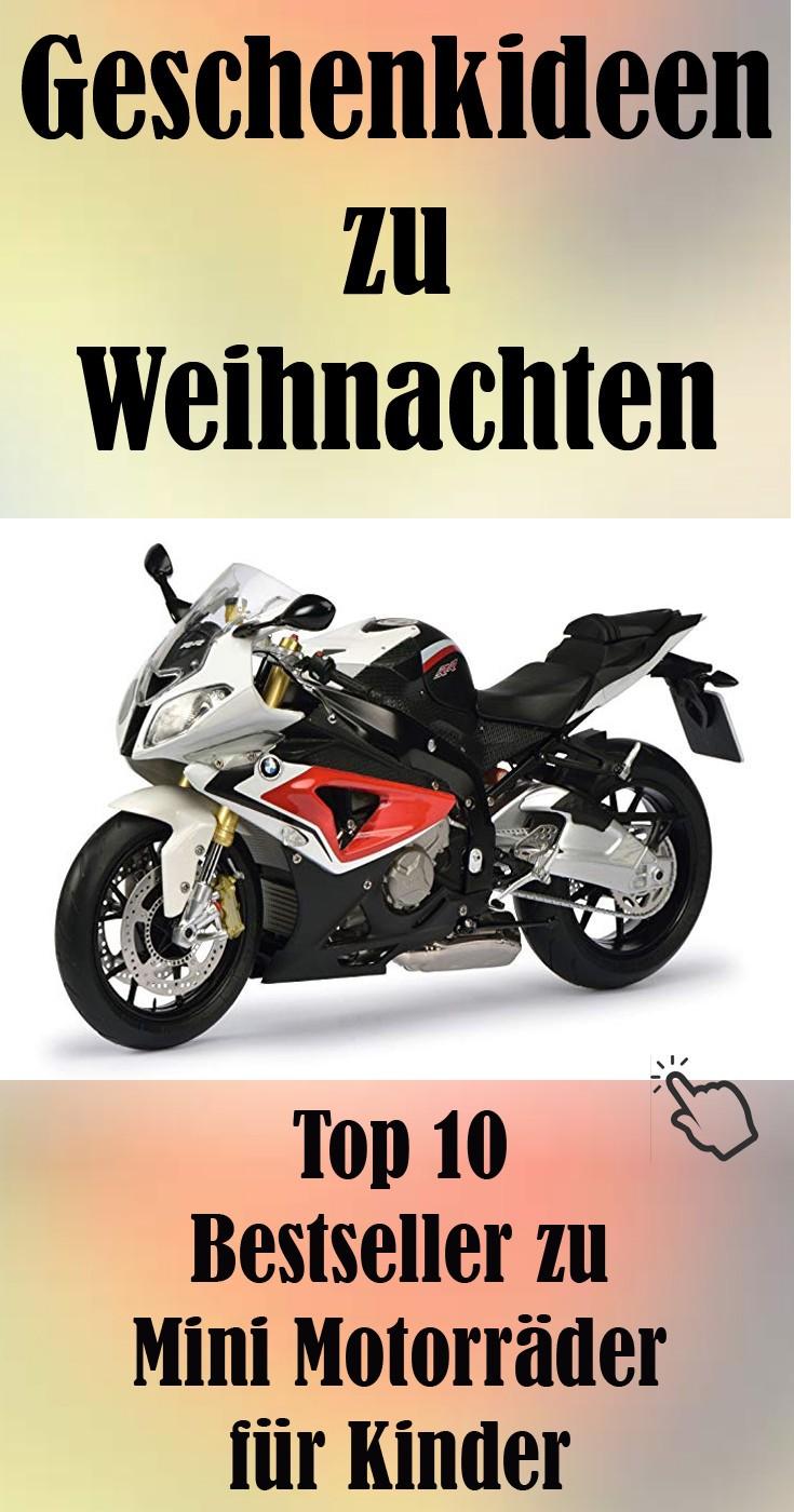 Mini Motorräder Geschenkidee zu Weihnachten.